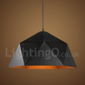 Black 1 Light Modern/ Contemporary Pendant Light for Bedroom Dining Room