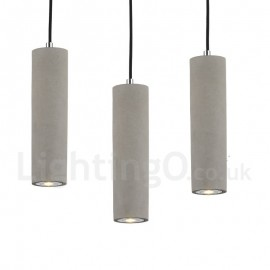 Modern/ Contemporary 1 Light Concrte Pendant Light for Dining Room Living Room Bedroom Lamp