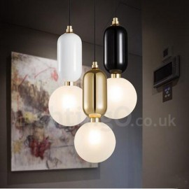 LED Modern/ Contemporary Dining Room Bedroom Pendant Light with Glass Shade