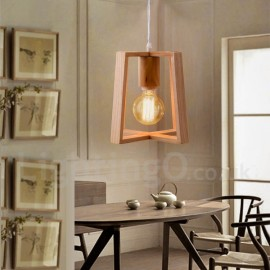 Wooden Modern/ Contemporary 1 Light Pendant Light for Dining Room Living Room Bedroom Lamp