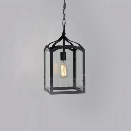 Metal Rustic / Lodge Living Room Dining Room Bedroom Pendant Light with Glass Shade