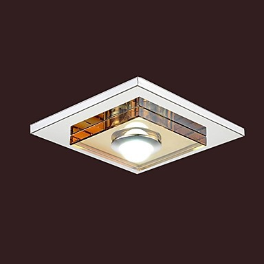 Umei 3w led amber crystal ceiling light 1 light flush mounted aloadofball Gallery