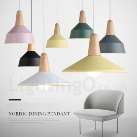 Modern/ Contemporary Dining Room Bedroom Wood Metal Multi Colors Pendant Light