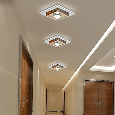 UMEI 3W Led Amber Crystal Ceiling light, 1 light, Flush Mounted