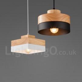 Modern/ Contemporary Wood Dining Room Living Room Metal Wood Pendant Light