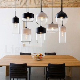 Modern/ Contemporary Living Room Bedroom Dining Room LED Pendant Light with Glass Shade