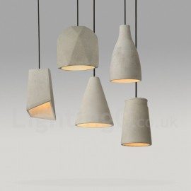 1 Light Concrte Dining Room Living Room Bedroom Pendant Light Lamp