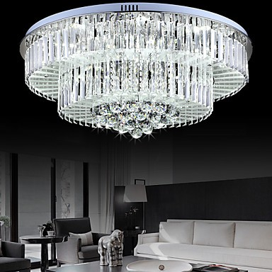 Flush Mount LED with Remote Control Modern/Contemporary Living Room/Bedroom/Dining Room/Study Room/Office Glass