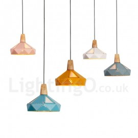 Single 1 Light Modern/ Contemporary Multi Colors Pendant Light for Dining Room Bedroom Living Room Lamp