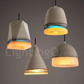 Vintage Concrte Pendant Light for Dining Room, Living Room, Bedroom, Kitchen Lamp
