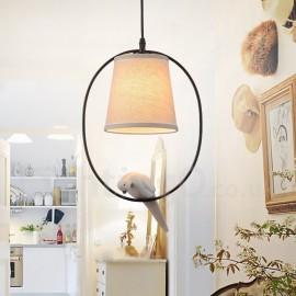 1 Light Rustic / Lodge Vintage Pendant Light for Living Room Bedroom Dining Room