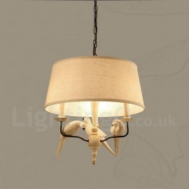 3 Light Rustic / Lodge Vintage Pendant Light for Living Room Bedroom Dining Room