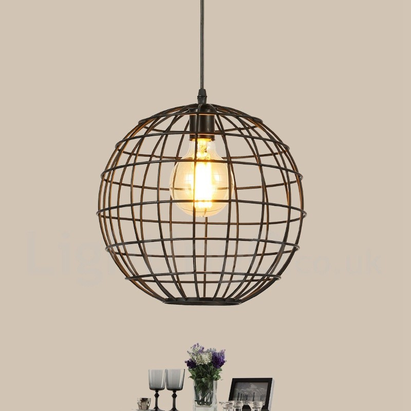 country vintage globe pendant light for dining room