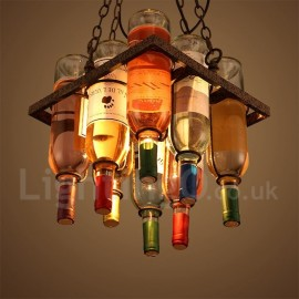 Traditional / Classic Metal Bar Pendant Light for Living Room Dining Room Lamp