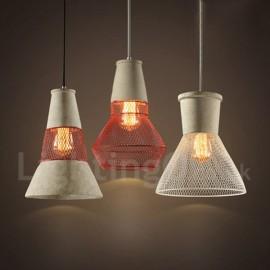 1 Light Metal Dining Room Concrte Rustic / Lodge Pendant Light