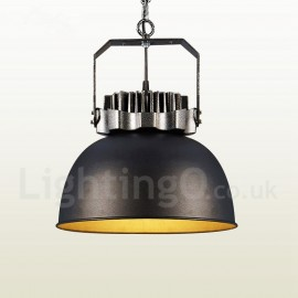 Black Country Vintage Dining Room Metal Pendant Light