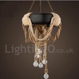 Country Vintage 6 Light Living Room Dining Room Pendant Light