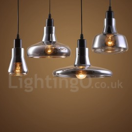 Retro / Vintage 1 Light Living Room Dining Room Pendant Light with Glass Shade
