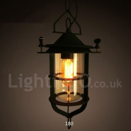 Retro / Vintage Metal 1 Light Pendant Light for Dining Room Living Room Bedroom Lamp