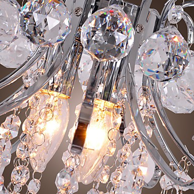 Max 40W Modern/Contemporary Crystal / Mini Style Electroplated Metal Chandeliers / Flush Mount Living Room / Dining Room / Entry