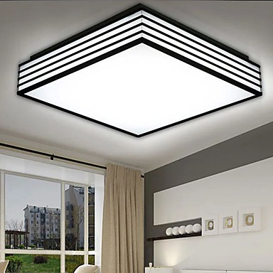 220V 28*28CM Contracted And Contemporary Black And Square Dome Light Lamp Led Light