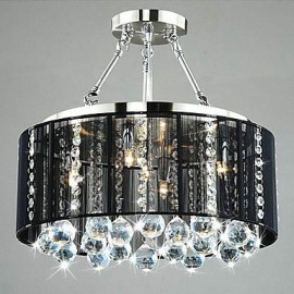 MAX:60W Traditional/Classic Crystal Chrome Metal Flush Mount Bedroom / Dining Room / Study Room/Office / Hallway