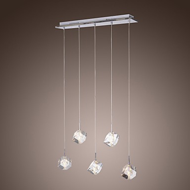Max 10w modern contemporary island crystal chrome pendant lights dining room kitchen - Contemporary pendant lights for kitchen island ...