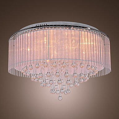 Max 20W Modern/Contemporary Crystal Electroplated Flush Mount Living Room / Bedroom / Dining Room
