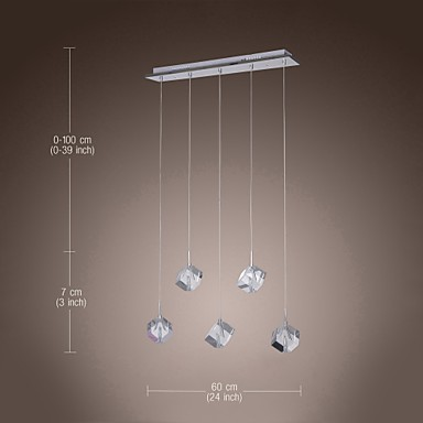 Max 10W Modern/Contemporary / Island Crystal Chrome Pendant Lights Dining Room / Kitchen