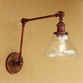 AC 220-240 40 E26/E27 Country Retro Electroplated Feature for Mini Style Bulb Included Eye Protection,Ambient Light Swing Arm LightsWall