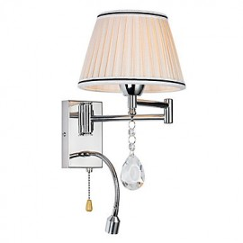 Wall Lamp Modern/Contemporary Rustic/Lodge Modern/Comtemporary Country Chrome Feature for Crystal Swing Arm
