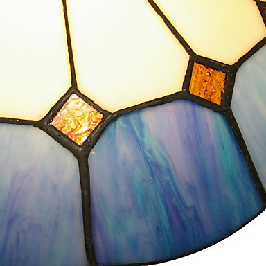 The Mediterranean Style Warm Bedroom Ceiling Lamps Tiffany Lamp 40cm Lighting Luminaire Diameter