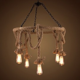 American Country Hemp Chandelier