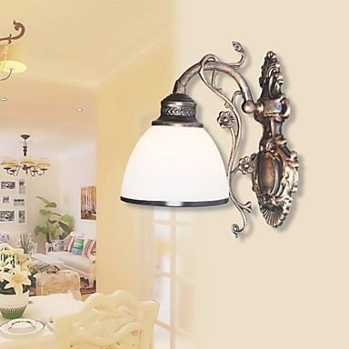 Simple American Wall Lamp Bedside Living Room Decorative Wrought Iron European Style Creative