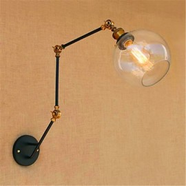 AC 110-130 / AC 220-240 40 E26/E27 Rustic/Lodge Chrome Feature for Swing Arm / Bulb Included,Ambient Light Swing Arm Lights Wall Light