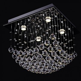 Elegent Chinese Crystal Chandelier 4 Lights with Flush Mount
