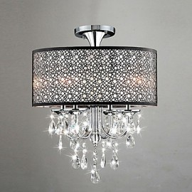 Max 60W Modern/Contemporary / Drum Crystal / Mini Style Chrome Chandeliers Living Room / Bedroom / Dining Room / Study Room/Office
