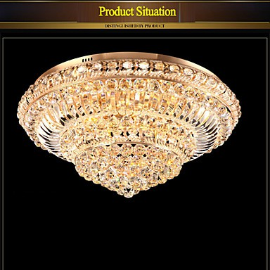 Modern Luxury 72W LED Crystal Ceiling Light Bedroom LED Absorb Dome Light Diameter 60CM