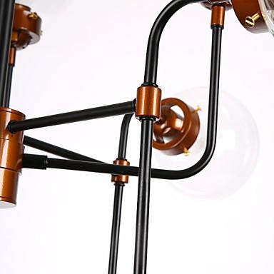 Modern Creative Personality Wrought Iron Chandelier, Restoring Ancient Ways Glass Ball Molecular Magic Beans Droplight