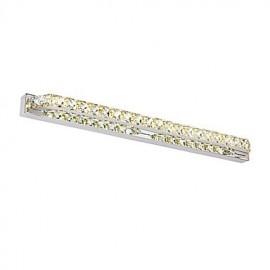 26.8Inch Long High Quality 18W LED Mirror Lamp Bathroom Lights 100-240V Metal and Crystal Wall Light
