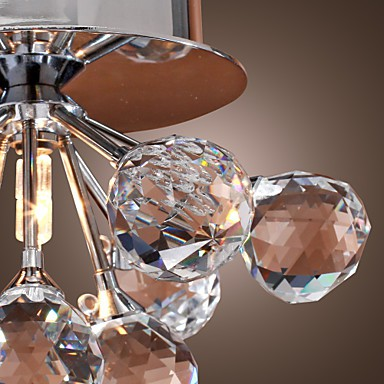 Max 20W Modern/Contemporary Crystal / Mini Style / Bulb Included Chrome Metal Flush Mount