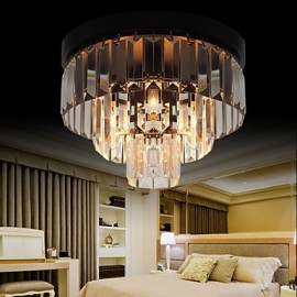 Max 60W Modern/Contemporary Crystal Metal Flush Mount Bedroom / Dining Room / Hallway