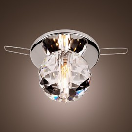 Max 20W Modern/Contemporary Crystal / Mini Style / Bulb Included Chrome Metal Flush MountLiving Room / Bedroom / Kitchen / Study