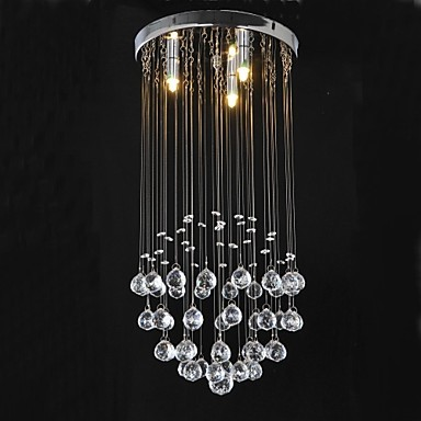 MAX 40W Traditional/Classic Crystal Chrome Metal Flush Mount Bedroom / Dining Room / Study Room/Office / Hallway