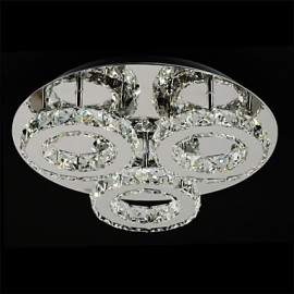 1W Modern/Contemporary LED Chrome Metal Flush Mount
