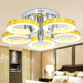 90W Simple LED Acrylic Chandelier with 5 lights (Chrome Finish)