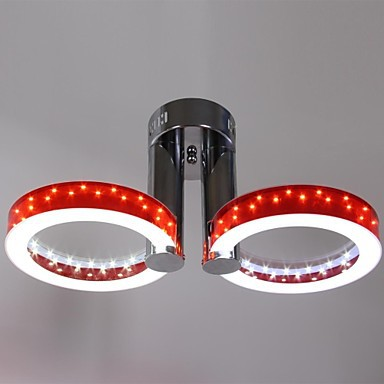 36W LED WarmWhite White Acrylic Red Chandelier with 2 Light