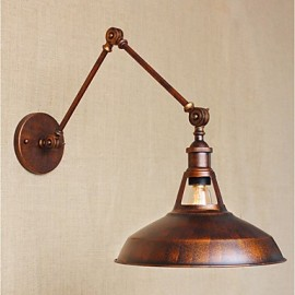 AC 110V-130V / AC 220V-240V 40W E27 Long-arm Half-rusty Industrial Retro Nostalgic Retractable Folding Wall Sconces Wall Light