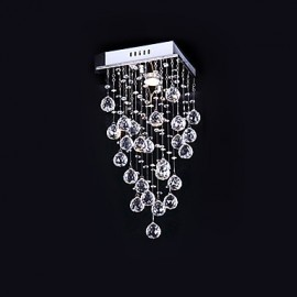 Max 50W Modern/Contemporary Crystal Electroplated Metal Chandeliers / Flush Mount Bedroom / Dining Room / Kitchen