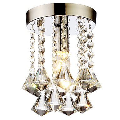 60 Modern/Contemporary / Traditional/Classic / Country Crystal / Mini Style Chrome Crystal Flush Mount